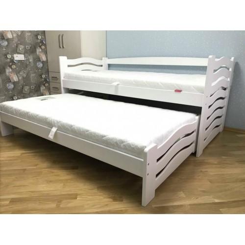 Одноярусная кровать Мальвина с выездными. с / м